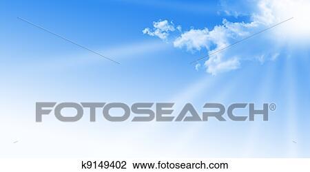 Banque De Photo Ciel Bleu Pendant A Jour Ensoleille A