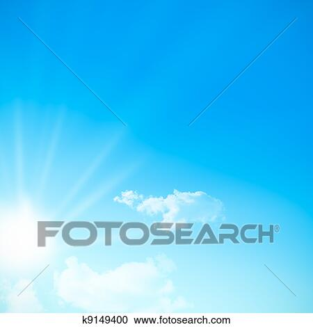 Banques De Photographies Ciel Bleu Pendant A Jour Ensoleille A