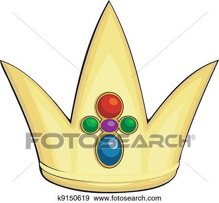 clip art of cartoon illustration of the royal crown k9150619 rh fotosearch com royal clipart free royal clipart design