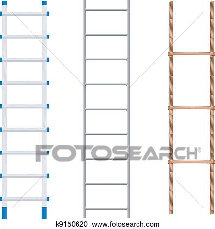 Clipart of Set ladders k9150620 - Search Clip Art, Illustration ...
