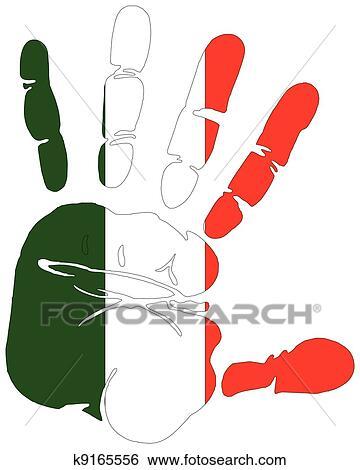Clip Art Bandiera Di Italia Stampa Mano K9165556 Cerca
