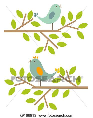 Clipart Frühling Vögel K9166813 Suche Clip Art Illustration