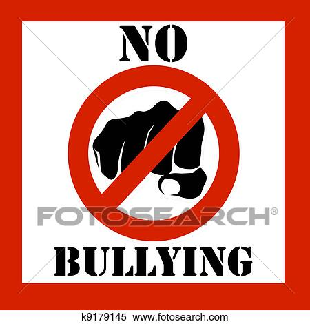 stock illustration of no bullying sign illustration k9179145 rh fotosearch com Bullying in Schools Clip Art no bullying clipart