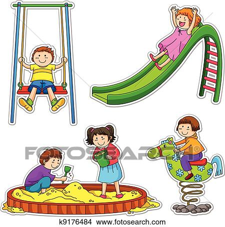 Picture of kids playing clipart