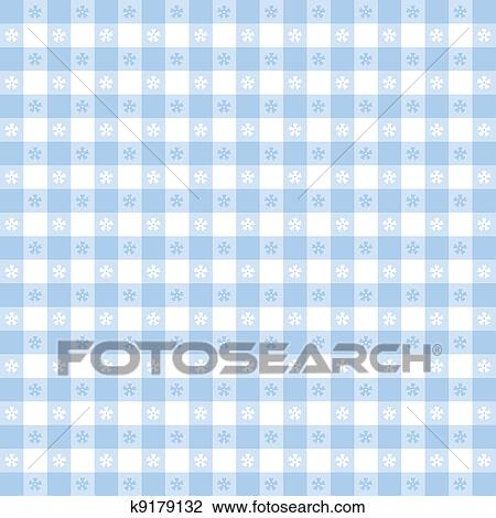 Seamless Pattern, Pastel Blue Gingham Check Tablecloth. EPS8 File Includes  Pattern Swatch That Will Seamlessly Fill Any Shape. For Picnics,  Restaurants ...