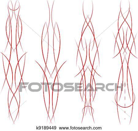 clip art of pinstripe set k9189449 search clipart illustration rh fotosearch com Von Dutch Pinstripe Designs Pinstripe Clip Art Common