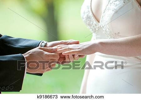 Stock Photo Of Wedding Ring Exchange K9186673 Search Stock Images