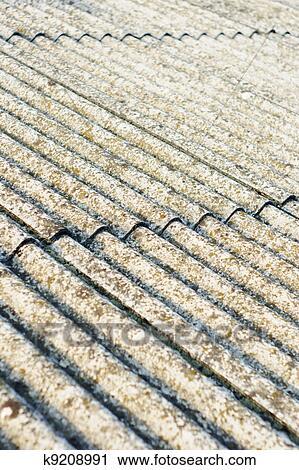Asbest Dach Eternit Stock Bild K9208991 Fotosearch
