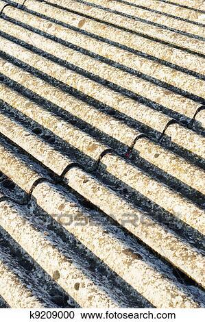Asbest Dach Eternit Stock Bild K9209000 Fotosearch