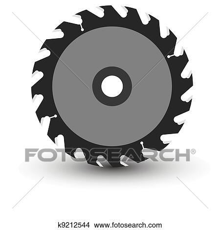 clipart of circular saw blade on a white background k9212544 rh fotosearch com saw blade outline clip art saw blade clip art black and white