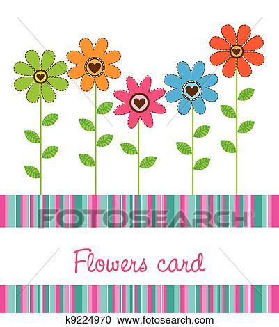 かわいい 花 クリップアート切り張りイラスト絵画集 K9224970