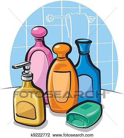 clipart of shampoo and soap k9222772 search clip art illustration rh fotosearch com