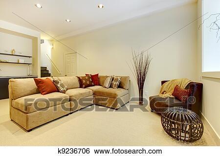 Stock Afbeeldingen - woonkamer, trap, met, badkamer, en, bar ...