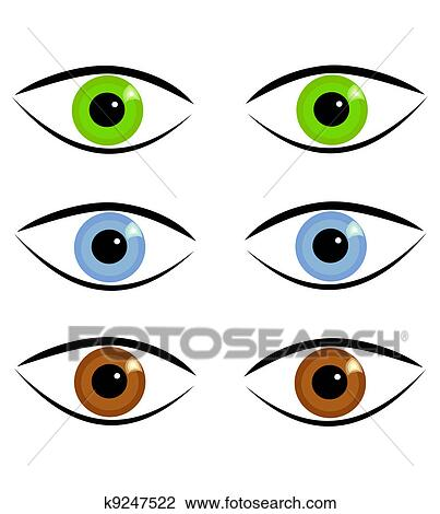 clipart of eyes in various colors k9247522 search clip art rh fotosearch com Clip Art Black and White Iris Iris Eye Clip Art