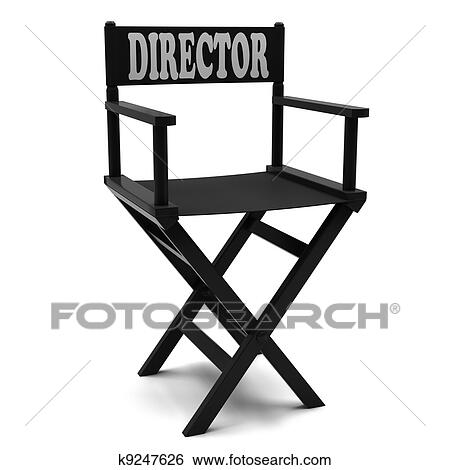 Flim Industry: Directors Chair On A White Background.