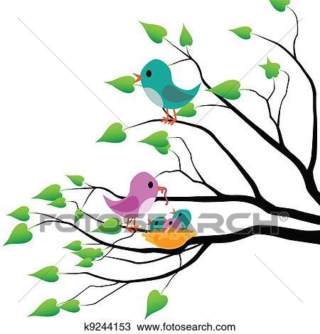 Clipart Frühling Vögel K9244153 Suche Clip Art Illustration