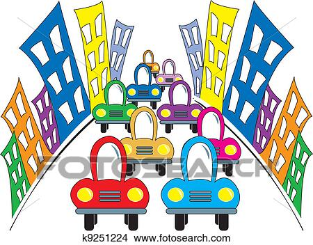clipart of busy street k9251224 search clip art illustration rh fotosearch com street clipart black and white street clipart