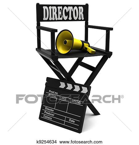 drawings of chair director k9254634 search clip art illustrations rh fotosearch com direction clip art director clipart free