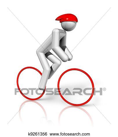 arquivos de ilustração ciclismo estrada 3d símbolo k9261356