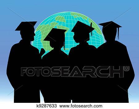 Clipart Of Graduation Celebration Students K9287633