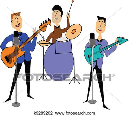clipart of rock band k9289202 search clip art illustration murals rh fotosearch com rock band clipart black and white rock band clipart black and white