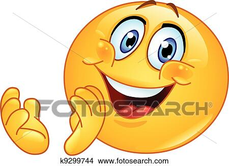 clipart of clapping emoticon k9299744 search clip art
