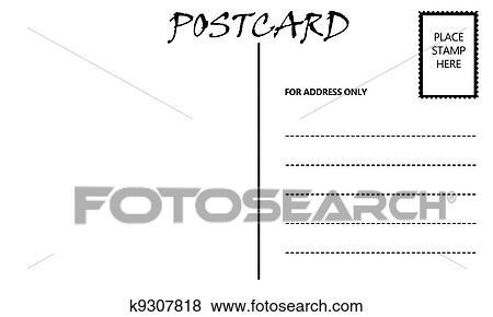 Stock illustration of empty blank postcard template k9307818 stock illustration empty blank postcard template fotosearch search eps clip art drawings maxwellsz