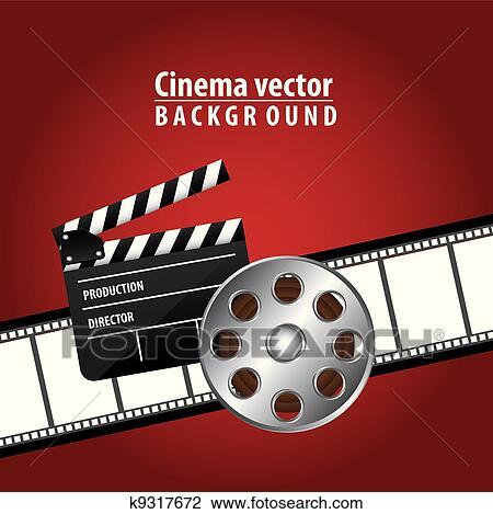 Clipart Of Cinema Vector K9317672 Search Clip Art Illustration