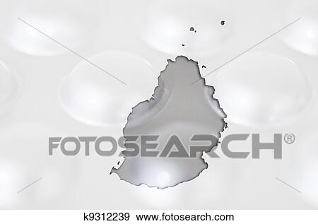 Outline mauritius map with transparent background of capsules ...