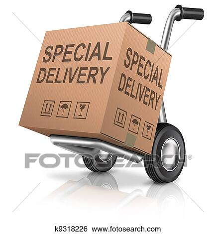 Stock Illustration Of Special Delivery Cardboard Box K9318226