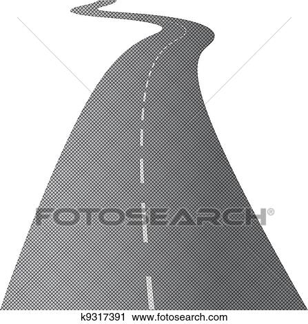 The long and winding road Clipart | k9317391 | Fotosearch