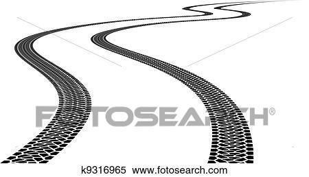 clipart of tire track k9316965 search clip art illustration rh fotosearch com atv tire track clipart tire track clipart