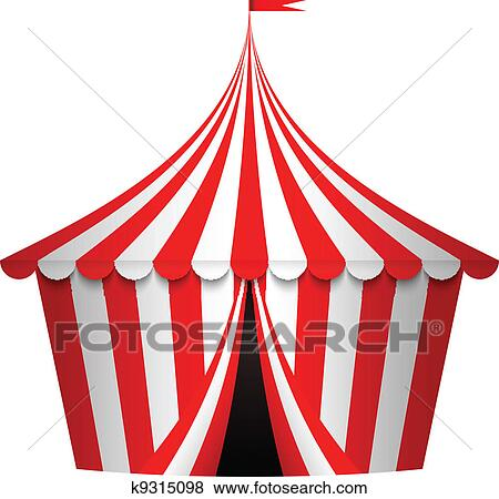 clip art of vector illustration of circus tent k9315098 search rh fotosearch com circus tent clip art vector free circus tent frame clipart