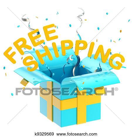 Ic Free Shipping >> Soz Free Shipping Ic La Notasi Armagan Kutusu Hazir Ilustrasyonlar