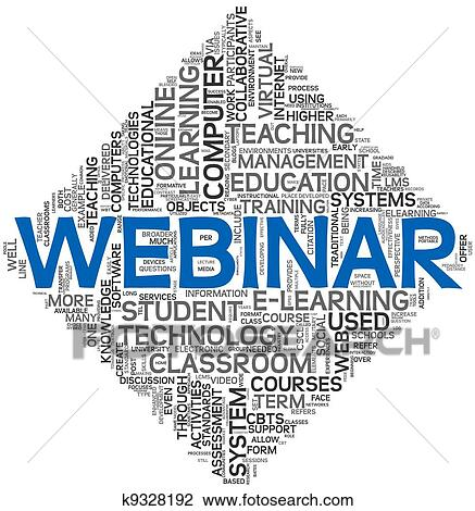 clip art of webinar concept in word tag cloud k9328192 search