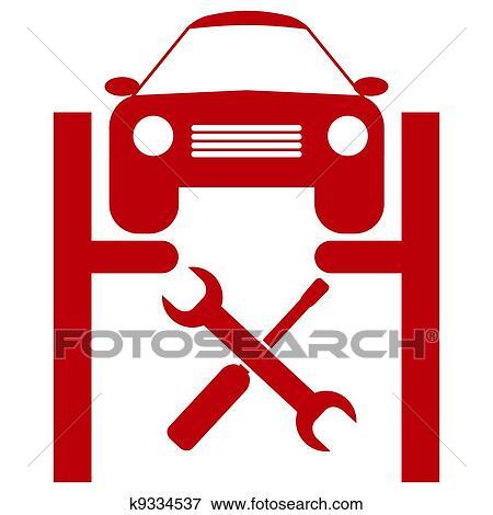 clip art of car service icon k9334537 search clipart illustration rh fotosearch com service clip art 92575 services clip art