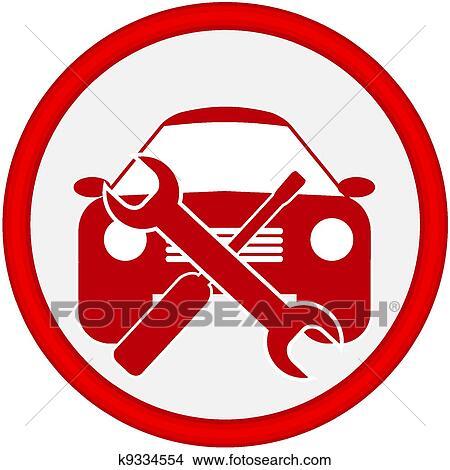 Car Service Icon Clipart K9334554 Fotosearch