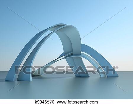 Stock Illustrationen 3d Abbildung Von A Moderne Architektur