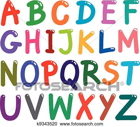 clipart of colorful capital letters alphabet k9343520 search clip rh fotosearch com decorative alphabet letters clipart alphabet letters clipart