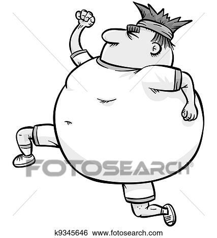 Stock Illustration Of Overweight Jogger K9345646