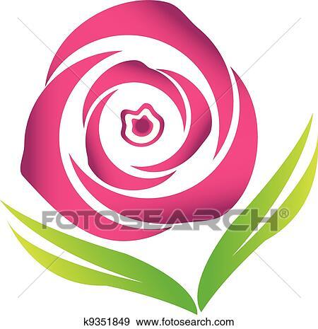 clipart cor de rosa flor rosa vetorial logotipo imagem