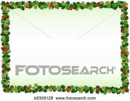 stock illustration of holly border k9359128 search eps clip art