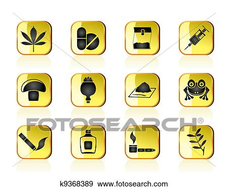 Clip Art - Different kind of drug icons. Fotosearch - Search Clipart, Illustration Posters