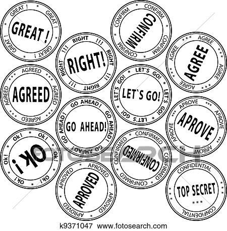 clip art of set of bureaucratic st s vector illustration True Clip Art a set of bureaucratic round st s vector illustration
