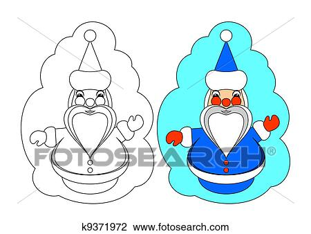 Clipart Of The Picture For Coloring Santa Cla K9371972 Search