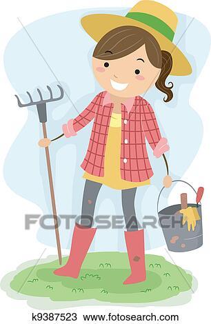 Female Gardener Clipart K9387523 Fotosearch
