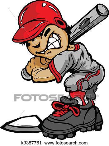 clipart of kid baseball batter holding bat vector image k9387761 rh fotosearch com baseball batter clipart Baseball Pitcher Clip Art
