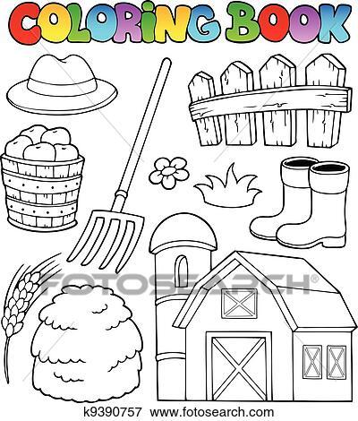 Ausmalbilder Bauernhof Thema 2 Clip Art