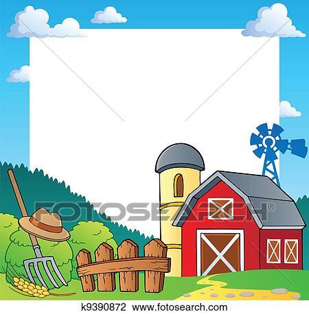 Clipart of Farm theme frame 1 k9390872 - Search Clip Art ...