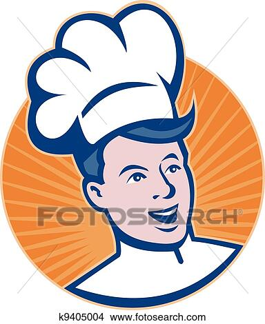 clipart of chef cook baker head k9405004 search clip art rh fotosearch com cork clipart cook clipart black and white